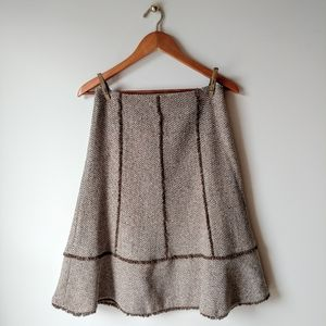 Loft ▪ A-Line Silk And Wool Tweed Skirt